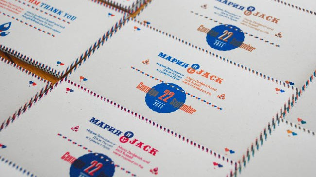 Silk screened cards