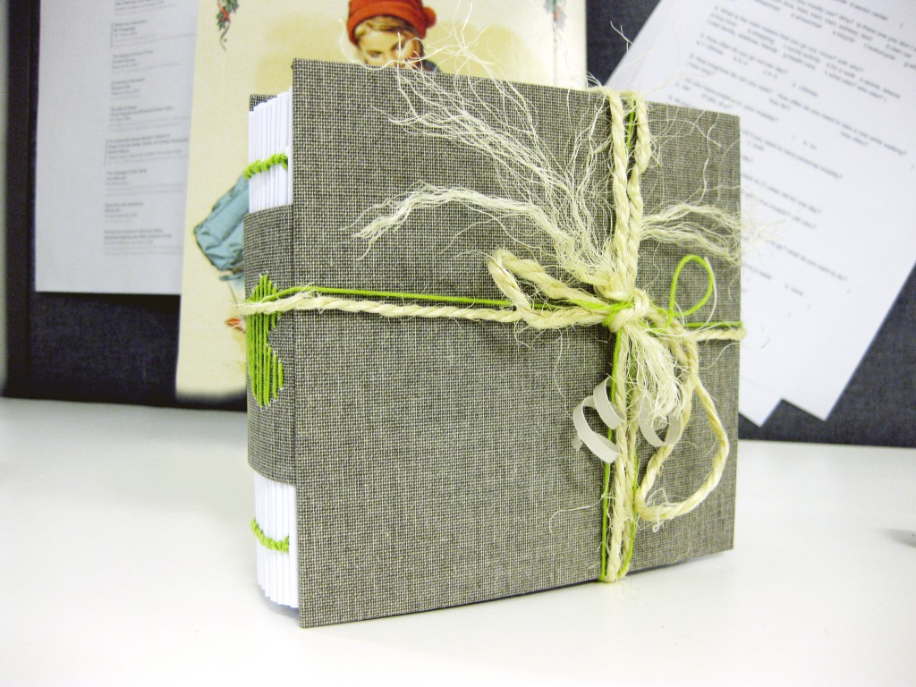 Handmade book with decoration